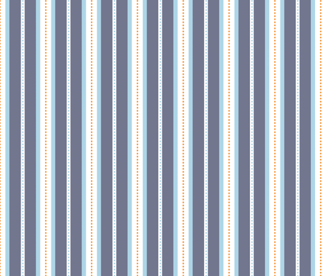 Seaside stripes fabric by needlebook on Spoonflower - custom fabric