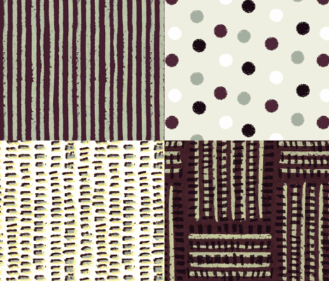 4 coordinates fabric by anne-m-bray on Spoonflower - custom fabric