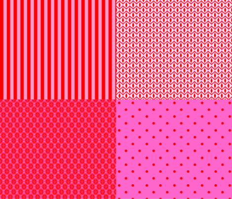Harmony red and pink fabric by rosapomposa on Spoonflower - custom fabric