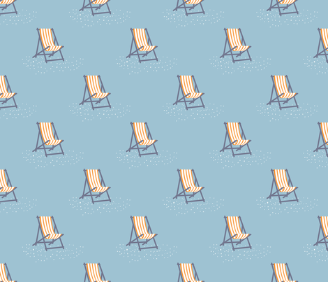 Beach chairs fabric by needlebook on Spoonflower - custom fabric