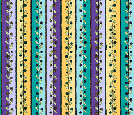 Brazenberry Stripes. fabric by rhondadesigns on Spoonflower - custom fabric