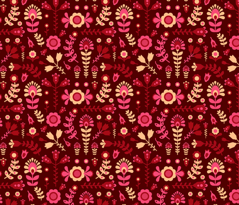 flowers fabric by ruusulampi on Spoonflower - custom fabric