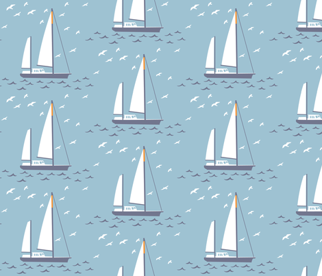 French yacht fabric by needlebook on Spoonflower - custom fabric