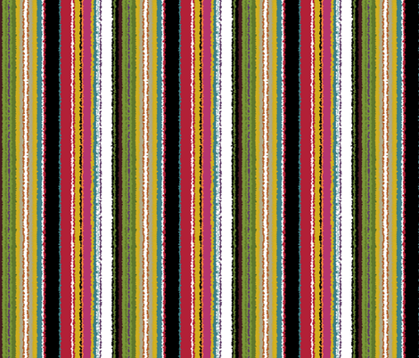 garden wiggle stripe fabric by scrummy on Spoonflower - custom fabric