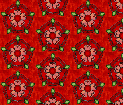 Tudor Rose  fabric by dogdaze_ on Spoonflower - custom fabric