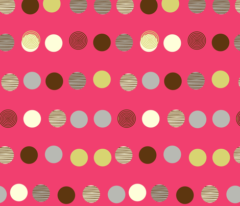 linear texture circles dark pink fabric by amel24 on Spoonflower - custom fabric
