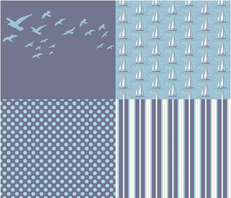 French Seaside fabric by needlebook on Spoonflower - custom fabric