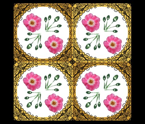 Rrbordered_rose_pillow_panel_dark_green_spoons_shop_preview