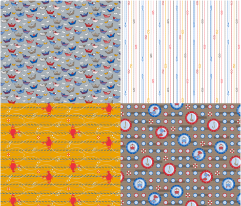 Ahoy! - Collection fabric by annosch on Spoonflower - custom fabric