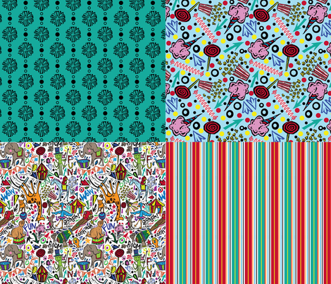 Circus Coordinates fabric by gsonge on Spoonflower - custom fabric