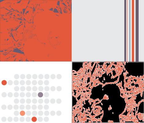 coordinates warm orange fabric by sclues on Spoonflower - custom fabric