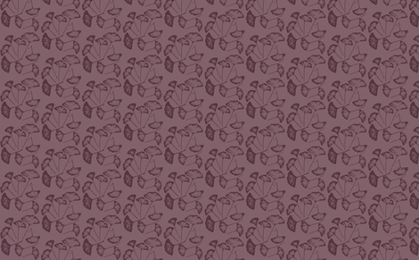 Ginko Leaves in Plum fabric by retrofiedshop on Spoonflower - custom fabric