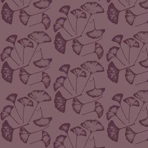 Ginko Leaves in Plum