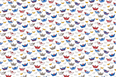 Fold a boat! 2 fabric by annosch on Spoonflower - custom fabric