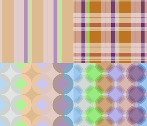 Pastel Coordinates fabric by kerrygibbons on Spoonflower - custom fabric