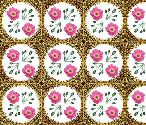 2x2_curved_spoonflower_roses_ironwork_18__inch_four_color_spoon_leaves_edit_after_entry fabric by khowardquilts on Spoonflower - custom fabric