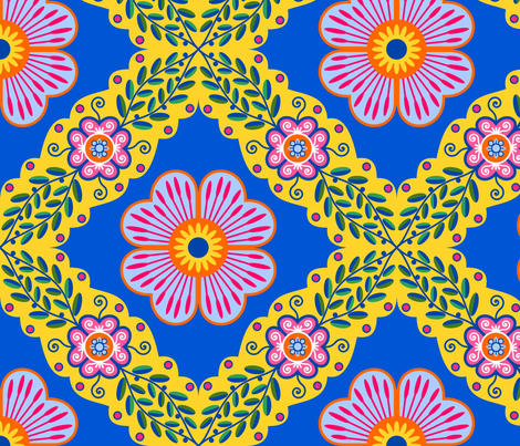 Portuguese Flowers fabric by yellowstudio on Spoonflower - custom fabric