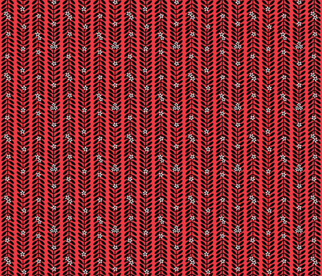 MioporumRED fabric by yellowstudio on Spoonflower - custom fabric