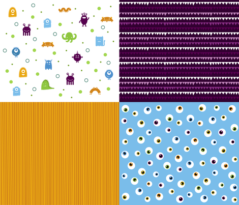 Monster Mashup fabric by jenimp on Spoonflower - custom fabric