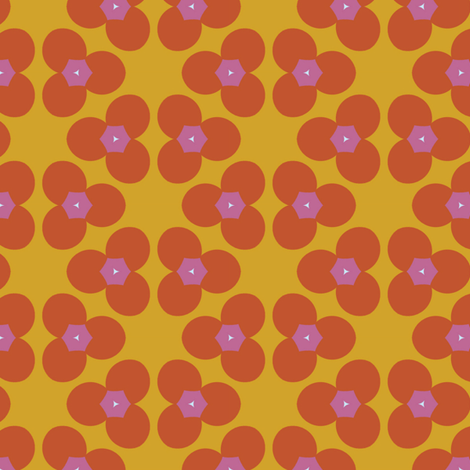Retro Orange Flowers fabric by stoflab on Spoonflower - custom fabric