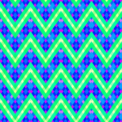 PlaidPointyStripe fabric by grannynan on Spoonflower - custom fabric