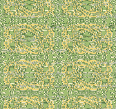 Green Celtic Knot Greyhounds ©2011 by Jane Walker