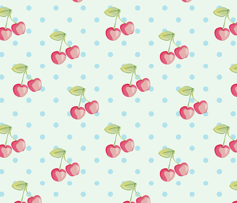 Cherry Dots fabric by mbsterling on Spoonflower - custom fabric