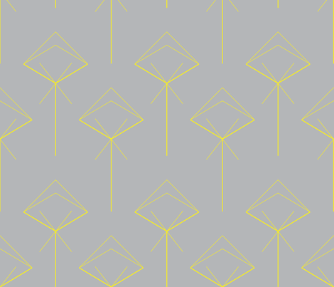 arrow X yellow fabric by capucine333 on Spoonflower - custom fabric