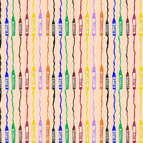 Crayon Stripes 2 fabric by brandymiller on Spoonflower - custom fabric
