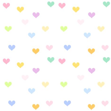 Rainbow Pastel - Mini Hearts -  © PinkSodaPop 4ComputerHeaven.com fabric by pinksodapop on Spoonflower - custom fabric