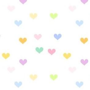 Rainbow Pastel - Mini Hearts -  © PinkSodaPop 4ComputerHeaven.com