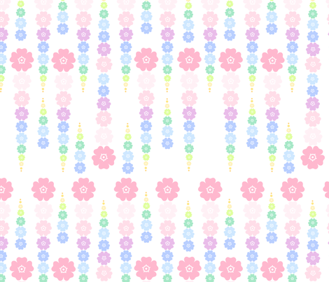 Rainbow Pastel - Flower Beads  -  © PinkSodaPop 4ComputerHeaven.com fabric by pinksodapop on Spoonflower - custom fabric