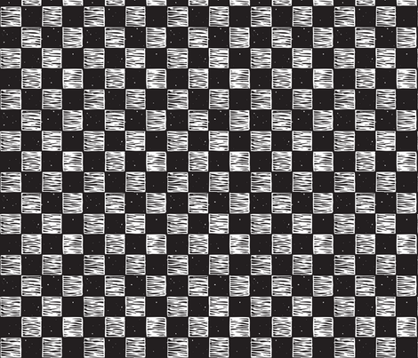 Rustic Checkerboard Small, Rotated - B&W fabric by jenithea on Spoonflower - custom fabric