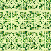 Hourglasses in mosaic greens