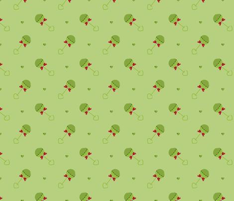 Arrrrrr! Zombie Baby Rattles! fabric by bobbifox on Spoonflower - custom fabric