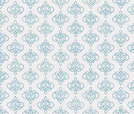 Jhali in Turquoise fabric by forest&sea on Spoonflower - custom fabric