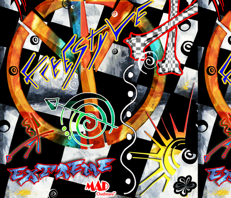 Graffiti_Design_MADART fabric by madart on Spoonflower - custom fabric