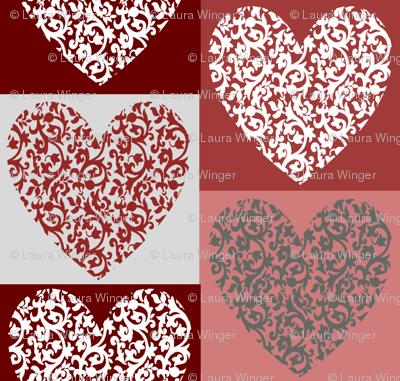 Damask Hearts