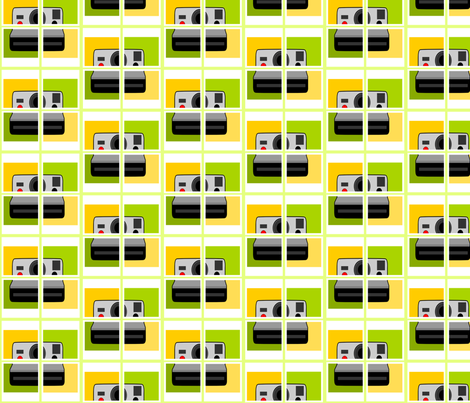 Oldschool Snapshot fabric by ninjaauntsdesigns on Spoonflower - custom fabric