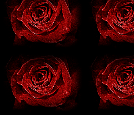 Neon Rose fabric by aarone on Spoonflower - custom fabric