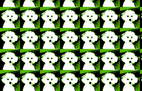 Retro Bichon-ch-ed fabric by aarone on Spoonflower - custom fabric