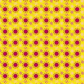 woodland teepee coordinate: yellow flowers