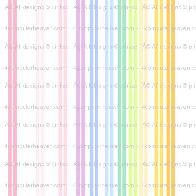Rainbow Pastel - Double Striped -  © PinkSodaPop 4ComputerHeaven.com