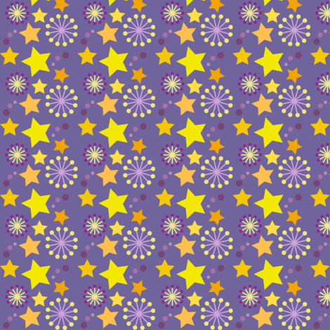 woodland teepee coordinate: purple stars fabric by coggon_(roz_robinson) on Spoonflower - custom fabric