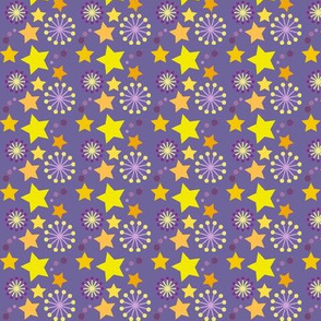 woodland teepee coordinate: purple stars