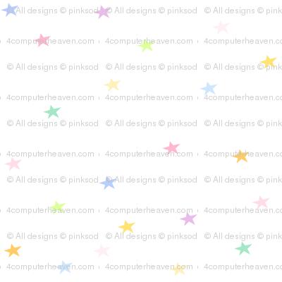 Rainbow Pastel - Tiny Stars -  © PinkSodaPop 4ComputerHeaven.com