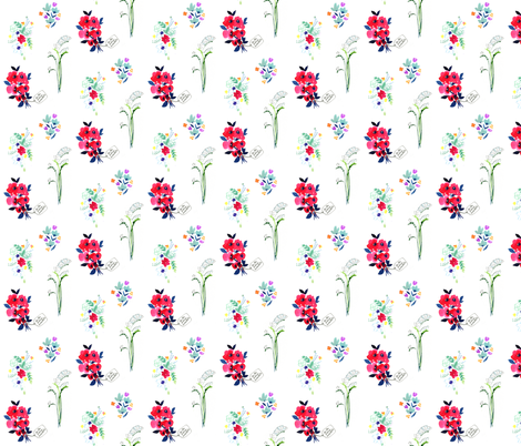 Flower Power fabric by dailycandy on Spoonflower - custom fabric