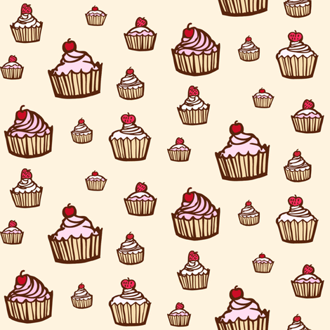 Cupcakes fabric by jenniferdenty on Spoonflower - custom fabric