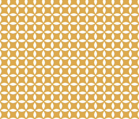 Curry Star fabric by tradewind_creative on Spoonflower - custom fabric