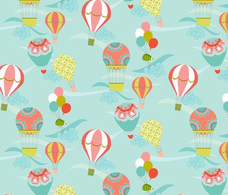 Up, Up & Away fabric by kayajoy on Spoonflower - custom fabric